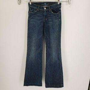 7 For All Mankind Dojo Blue Flare Jeans